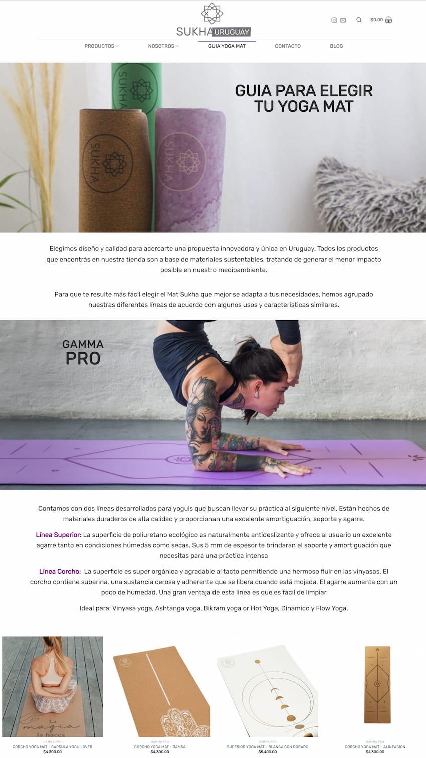 texto para ecommerce yoga mat