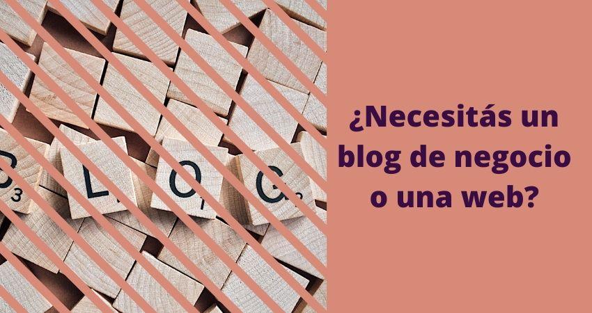 Blog de negocio o web