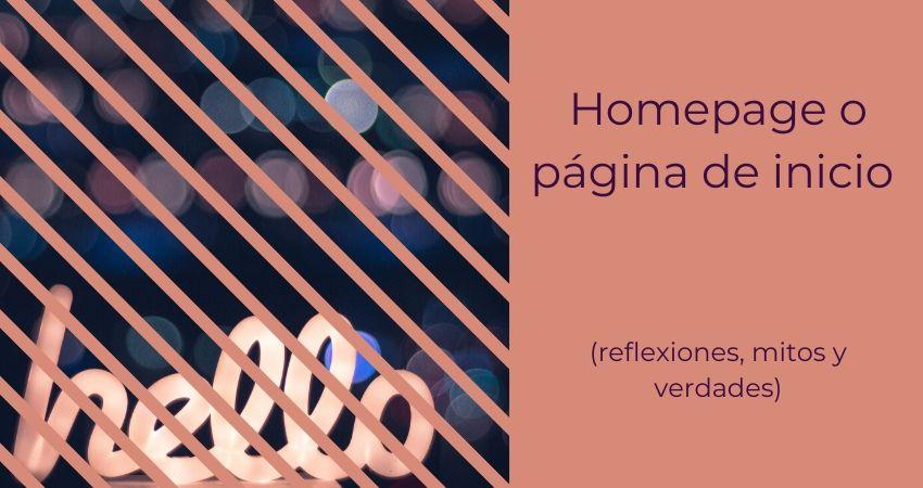 Homepage o pagina de inicio